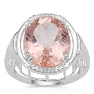 Galileia Topaz Ring with White Zircon in Sterling Silver 10.04cts