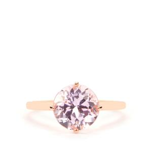 Minas Gerais Kunzite Ring in 9K Rose Gold 3.36cts