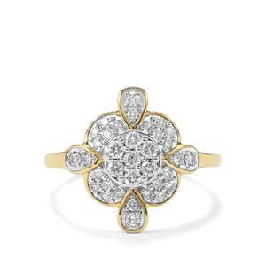 1/2ct Argyle Diamond 9K Gold Tomas Rae Ring