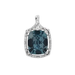 Versailles Topaz Pendant with White Zircon in Sterling Silver 6.40cts