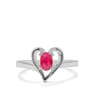 0.53ct Burmese Ruby Sterling Silver Ring
