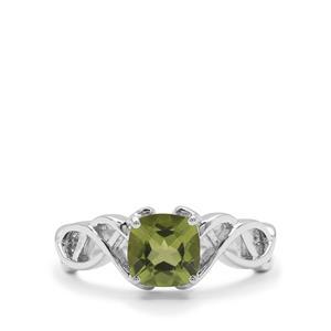 1.59ct Changbai Peridot Sterling Silver Ring