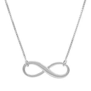 "18"" Sterling Silver Infinity Necklace 2.27g"