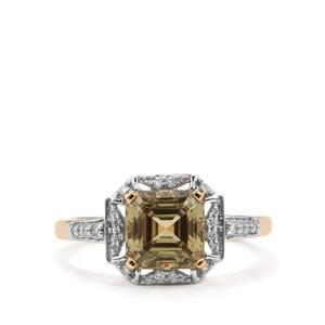 Csarite® Ring with Diamond in 18K Gold 2.38cts