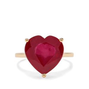10.45ct Malagasy Ruby 9K Gold Heart Ring (F)