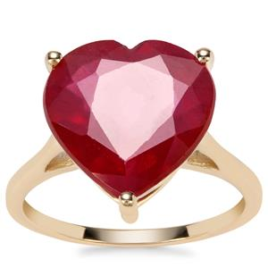 Malagasy Ruby Heart Ring in 9K Gold 10.45cts (F)