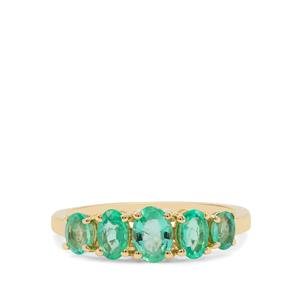 Ethiopian Emerald Ring in 9K Gold 1.11cts