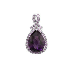 'The Jewel Of Africa' 17.56ct Zambian Amethyst Sterling Silver Pendant