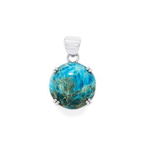 Fort-Dauphin Apatite Pendant in Sterling Silver 28cts