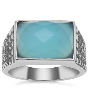 Aqua Chalcedony Ring in Sterling Silver 7.30cts