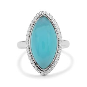 Aqua Chalcedony Ring in Sterling Silver 7.50cts