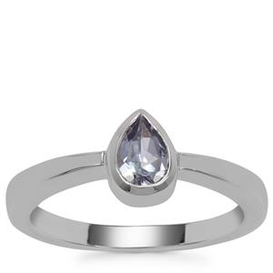 Bi Colour Tanzanite Ring in Sterling Silver 0.44ct