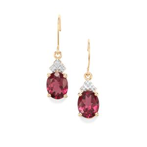 Umbalite Earrings with Diamond in 10K Gold 4.61cts