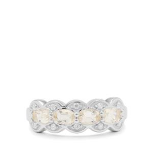 Serenite Ring with White Zircon in Sterling Silver 1cts