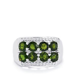 2.57ct Chrome Diopside Sterling Silver Ring