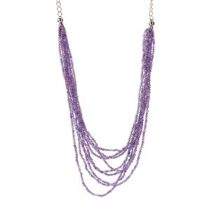 64.65ct Zambian Amethyst Sterling Silver Necklace