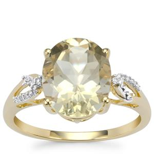 Serenite Ring with Diamond in 9K Gold 3.27cts