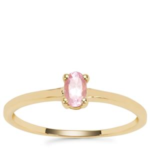 Mozambique Pink Spinel Ring in 9K Gold 0.26ct