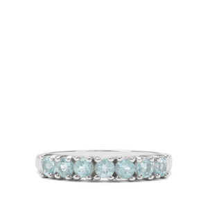0.87ct Madagascan Blue Apatite Sterling Silver Ring