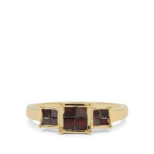 3/4ct Red Diamond 9K Gold Ring