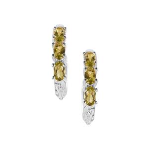 Changbai Peridot Earrings in Sterling Silver 1.50cts
