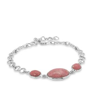 Thulite Bracelet in Sterling Silver 12.13cts