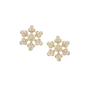 Fancy Diamond Earrings  in 18k Gold 1.95cts