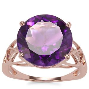 Moroccan Amethyst Ring in 9K Rose Gold 6.66cts