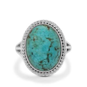Lhasa Turquoise Ring in Sterling Silver 7cts