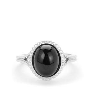 Black Tourmaline Ring  in Sterling Silver 4.43cts