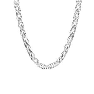 "18"" Sterling Silver Altro Double Curb Necklace 13.70g"