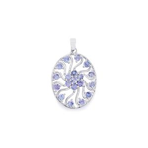 2.85ct Tanzanite Sterling Silver Pendant