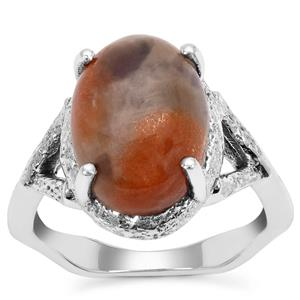 Iolite Sunstone Ring in Sterling Silver 5.50cts
