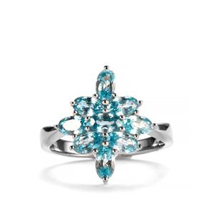 Ratanakiri Blue Zircon Ring  in Sterling Silver 2.93cts