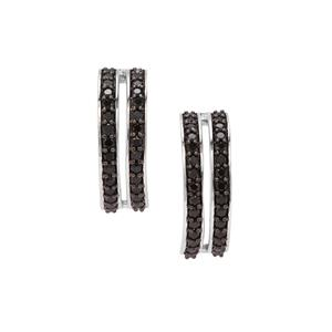 Black Spinel Earrings in Sterling Silver 1.12cts