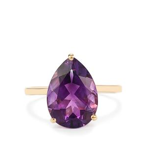 4.13ct Moroccan Amethyst 9K Gold Ring