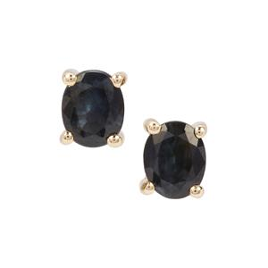 Australian Blue Sapphire Earrings in 9K Gold 0.70ct