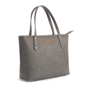 Destello Riya Tote Handbag (Vegan Leather Colour Silver)