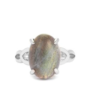 6.55ct Labradorite Sterling Silver Ring