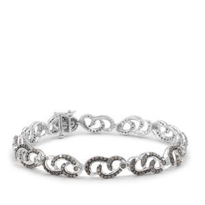 Grey Diamond Bracelet in Sterling Silver 2cts