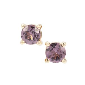 Mahenge Purple Spinel Earrings in 9K Gold 0.56ct