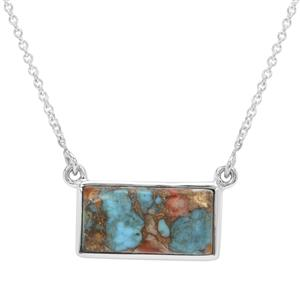 12ct Oyster Copper Mojave Turquoise Sterling Silver Aryonna Necklace