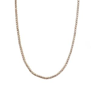 Champagne Diamond Necklace in 9K Gold 3.95cts