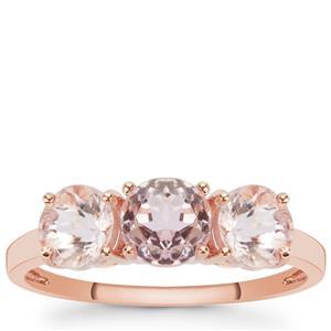 1.95ct Kunzite 9K Rose Gold Ring