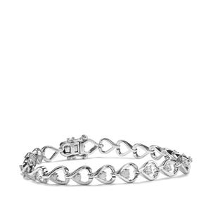 1/2ct Diamond Sterling Silver Bracelet
