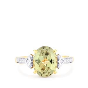 Csarite® Ring with Diamond in 18k Gold 3.28cts
