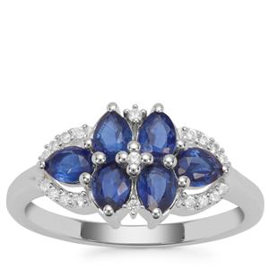 Nilamani Ring with White Zircon in Sterling Silver 1.51cts