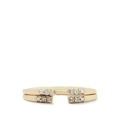 AREZZO D'ORO 1/20CT DIAMOND 9K GOLD RING