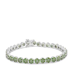 6.08ct Chrome Diopside Sterling Silver Bracelet