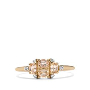 Ouro Preto Imperial Topaz & Diamond 10K Gold Ring ATGW 0.75cts